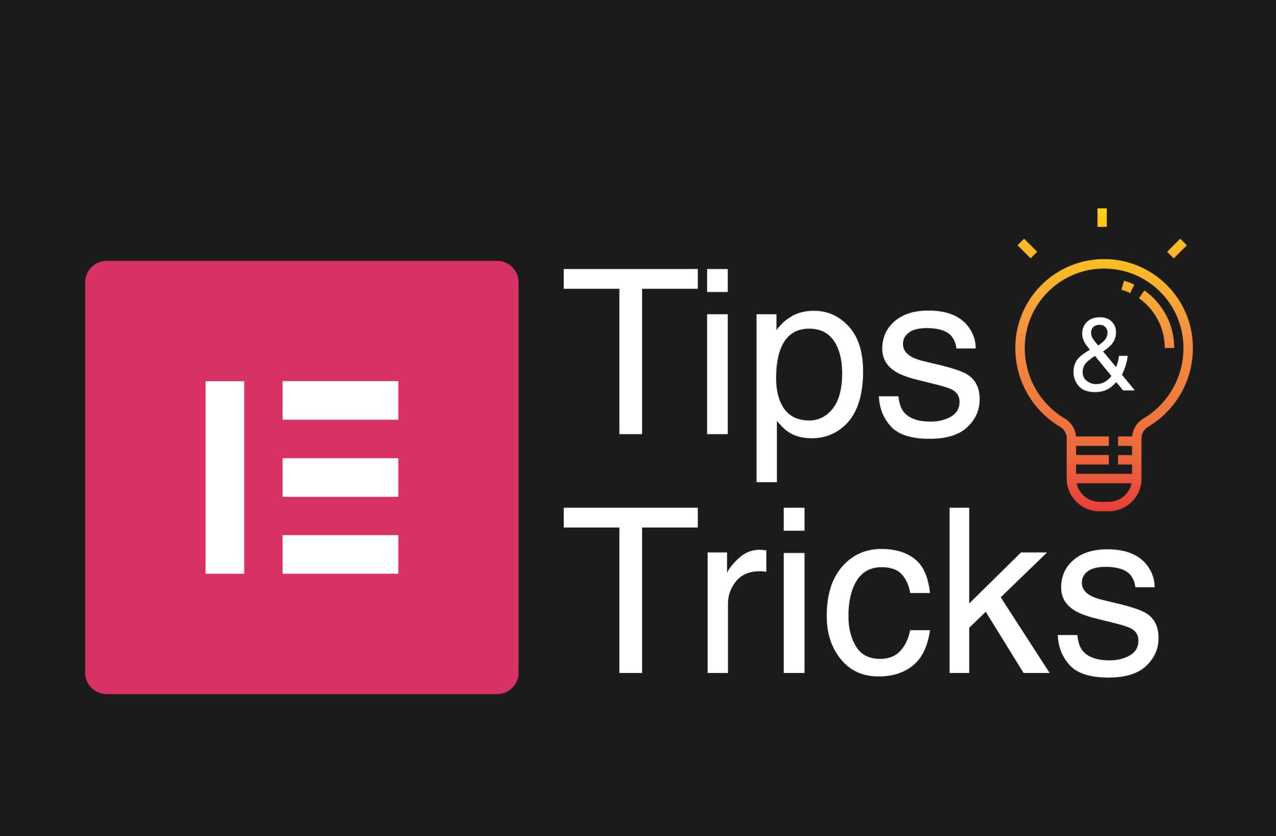 Elementor-Tips&Tricks
